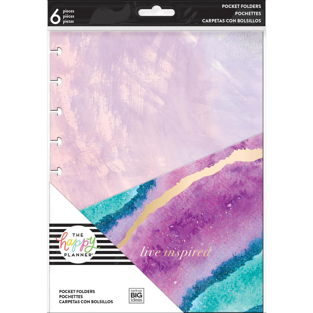Mambi Medium Planner Pocket Folders Live Inspired (met gold foil)