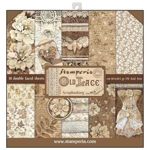 Stamperia Paperpad Old Lace 12 inch
