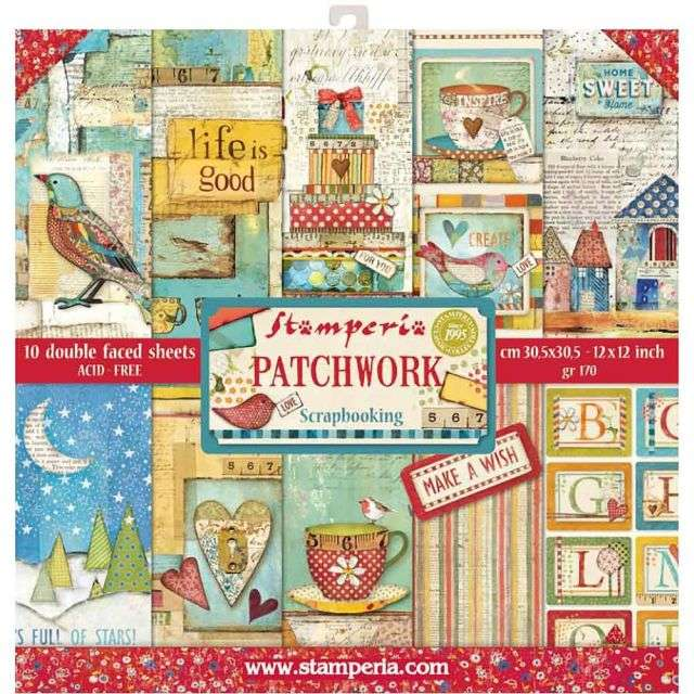Stamperia Paperpad Patchwork 12 inch