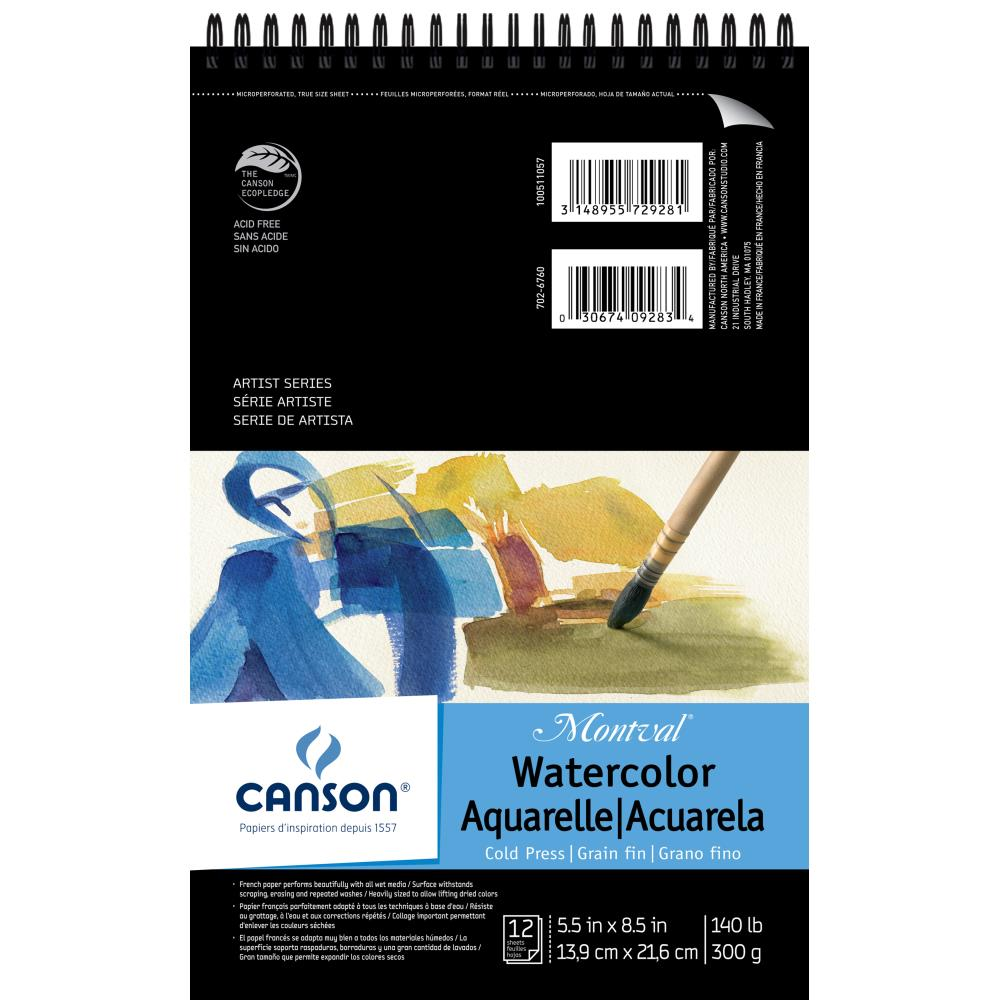 Canson XL Watercolor Paper Pad 5,5 x 8,5 inch