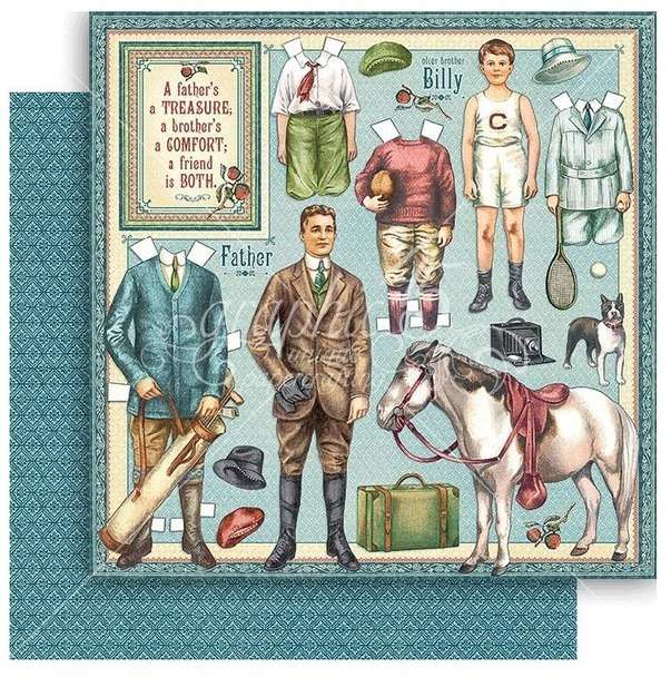 G45 Penny's Paper Doll Family Fathers and Sons
