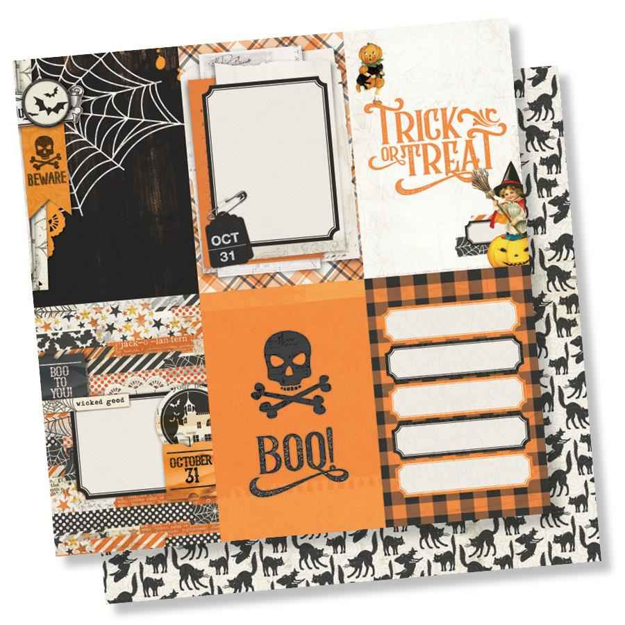 SS Simple Vintage Halloween 4x6 vertical elements