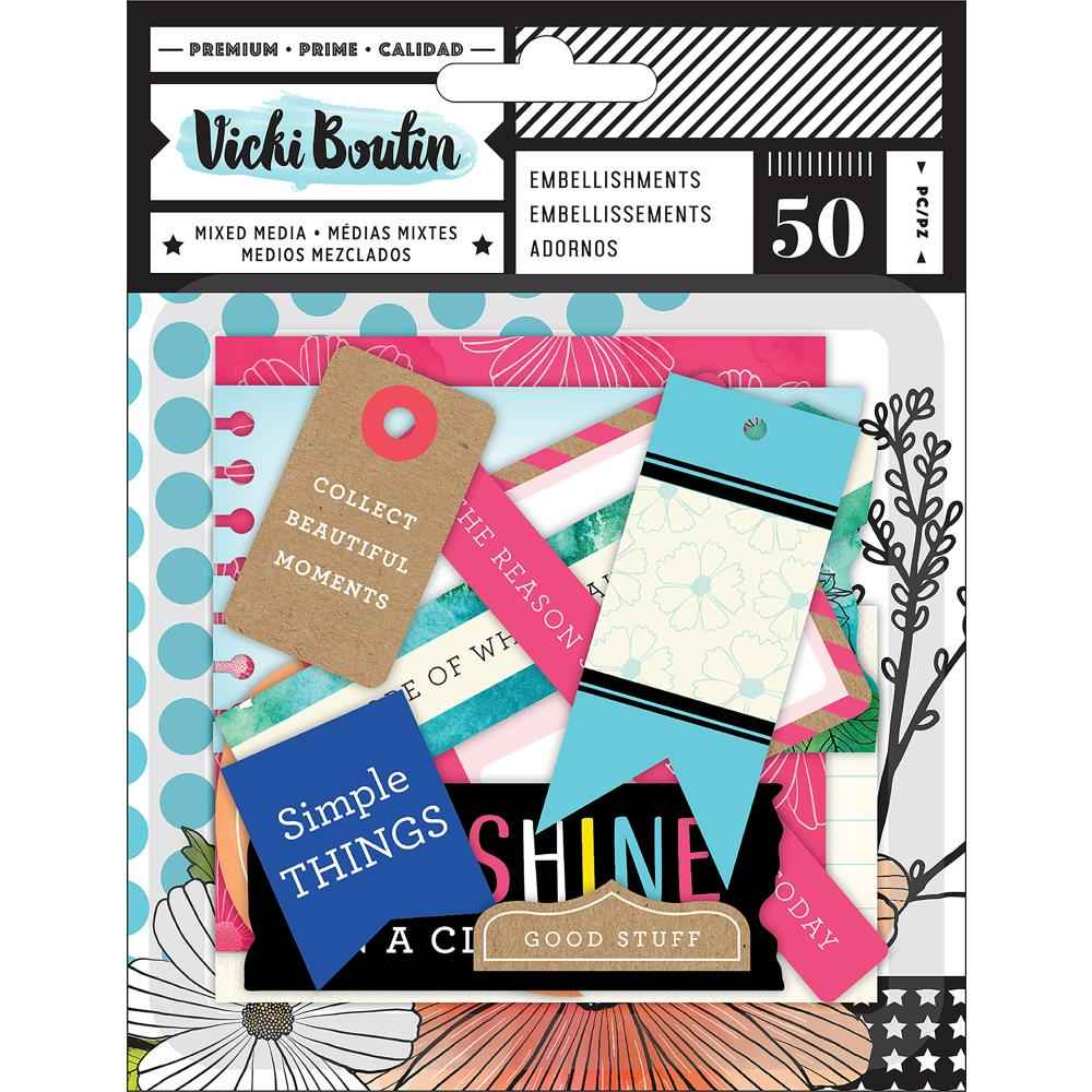 AC Vicki Boutin Field Notes Ephemera die-Cuts Journaling