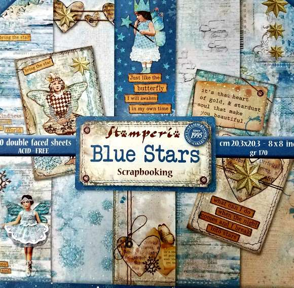 Stamperia Paperpad Blue Stars 12 inch