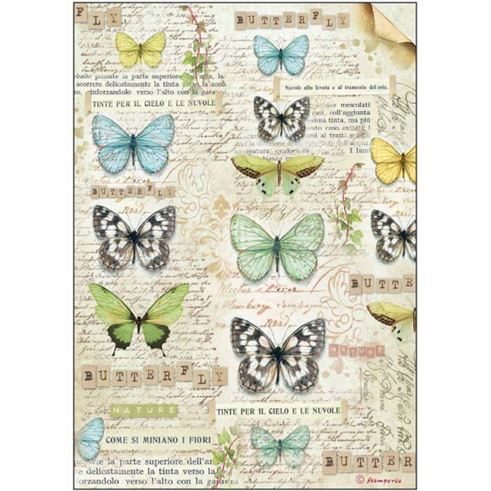 Stamperia Rice Paper A4 Butterfly