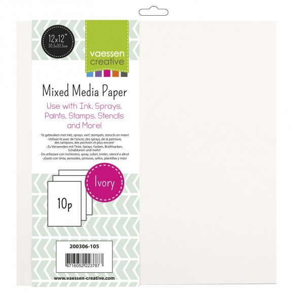 Vaessen Mixed Media paper Ivory 12 inch