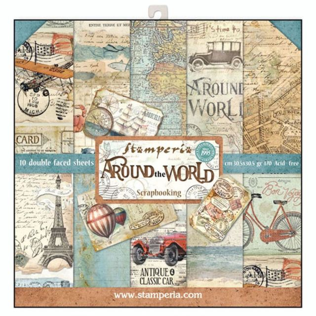 Stamperia Paperpad Around the World 12 inch