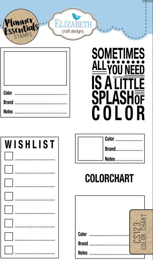 ECD Clear Stamp Color Chart