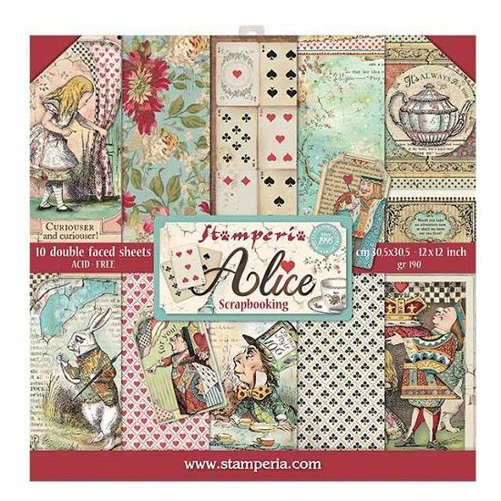 Stamperia Paperpad Alice 12 inch