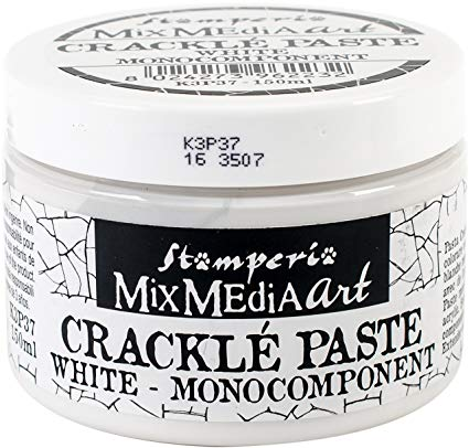 Stamperia Mix Media Art Crackle Paste White
