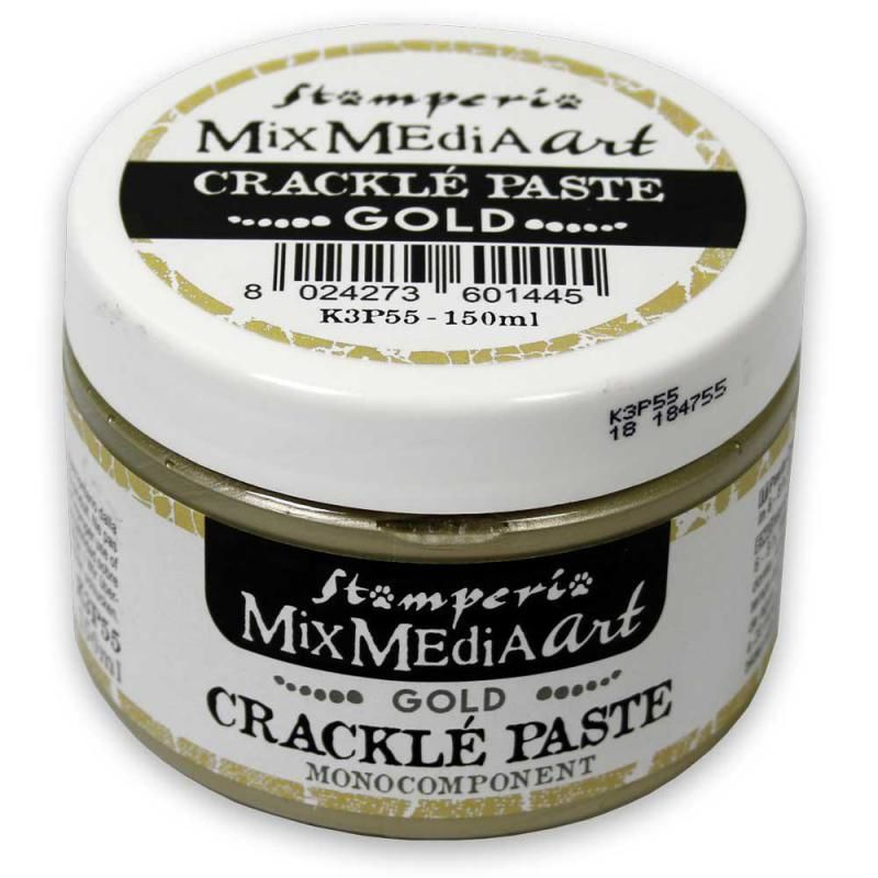 Stamperia Mixed Media Art Crackle Paste Gold