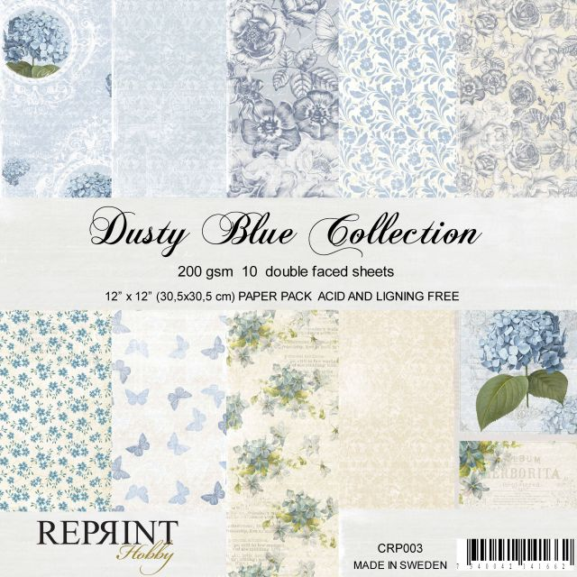 Reprint papierpakket Dusty Blue Collection