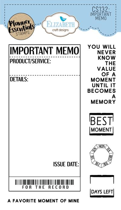 ECD Clear Stamp Important Memo