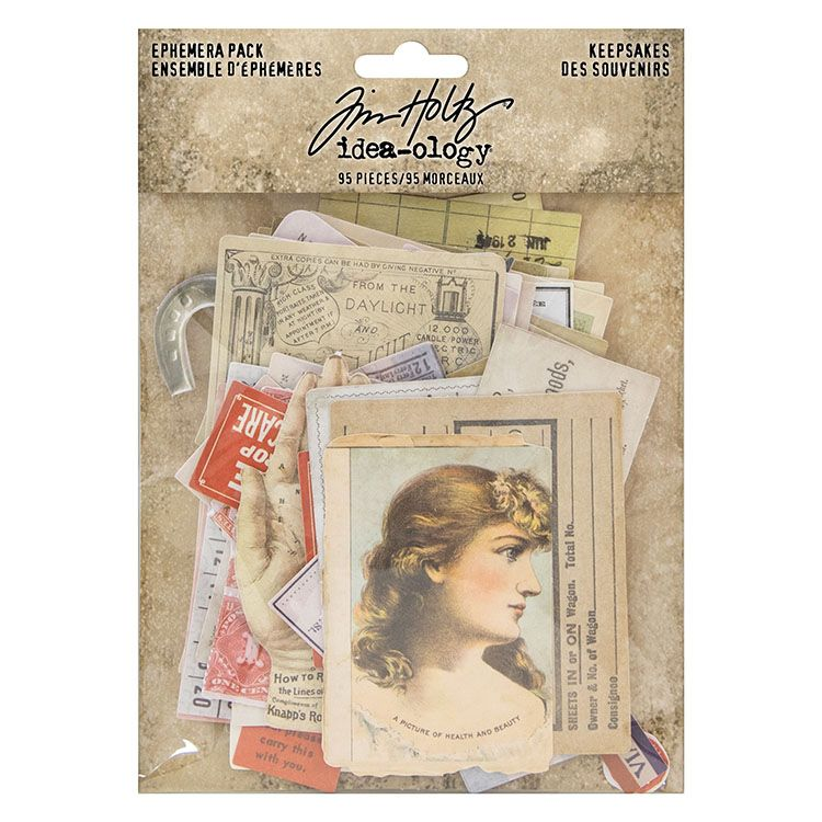 Tim Holtz Ephemera Pack Keepsakes  95 pieces