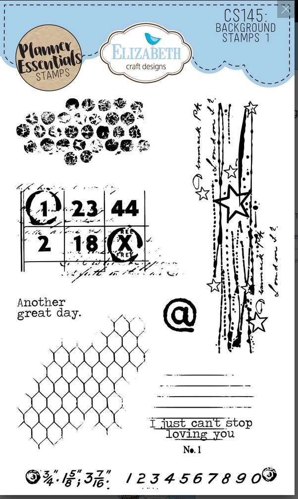 ECD Clear Stamp Background Stamps 1