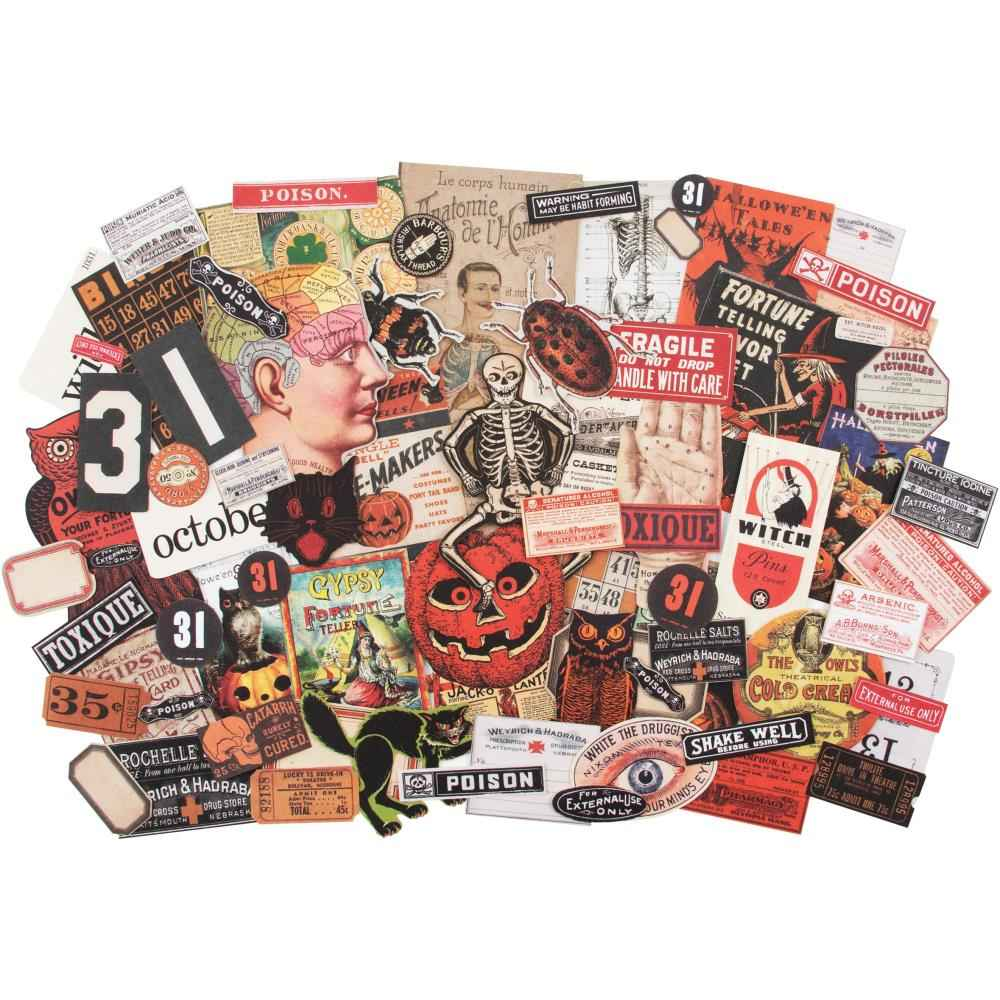 Tim Holtz Ephemera Pack Halloween 2019 82 pieces
