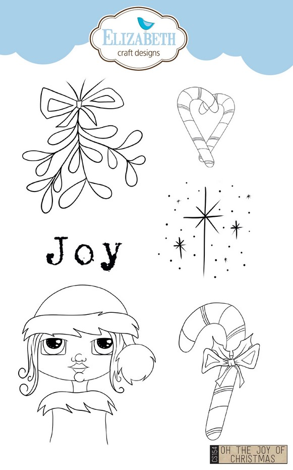ECD Clear Stamp Oh the Joy of Christmas