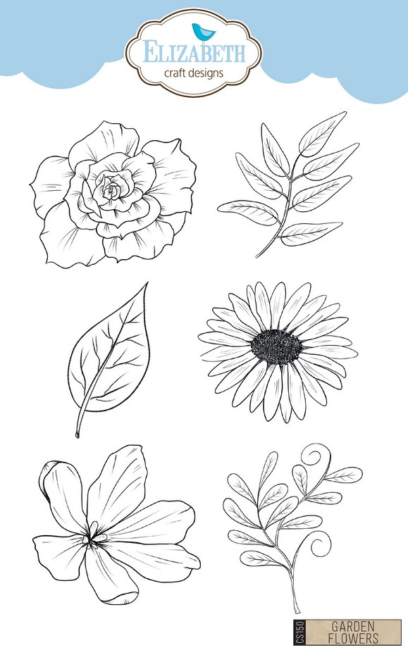ECD Clear Stamp Garden Flowers