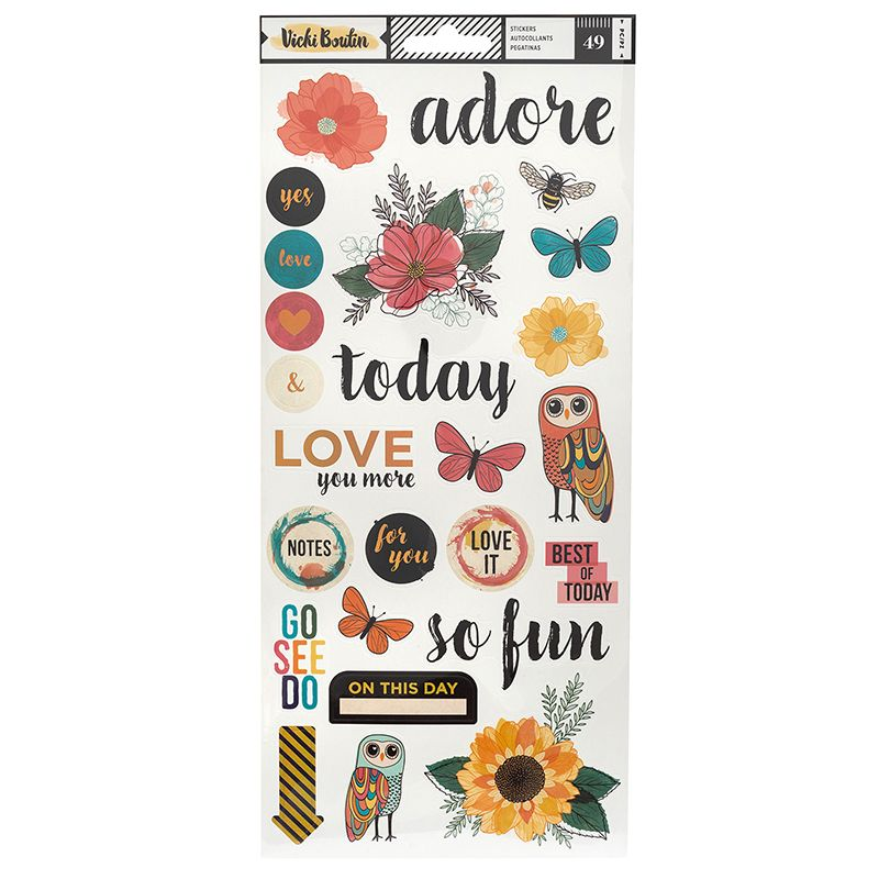 Vicki Boutin Wildflower and Honey Stickers