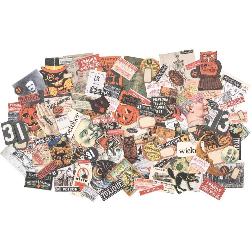 Tim Holtz Ephemera Pack Halloween Snippets Tiny Die-cuts 81 pieces