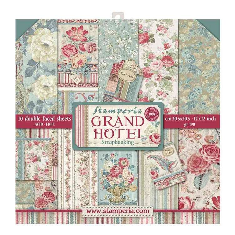Stamperia Paperpad Grand Hotel 12 inch