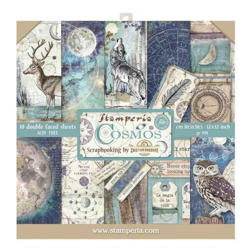 Stamperia Paperpad Cosmos 12 inch