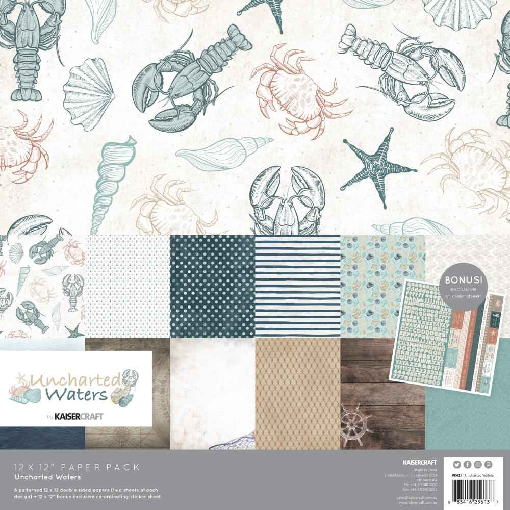 Kaisercraft Paperpack Uncharted Waters 12 inch.