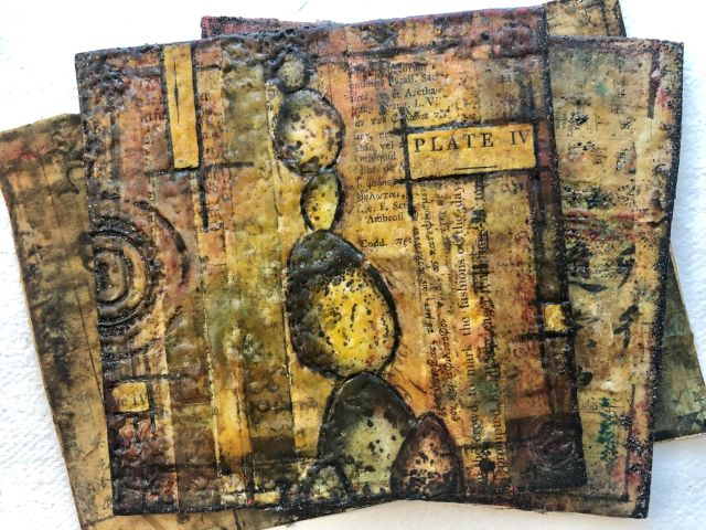 14 april ochtend Seth Apter Encaustic Effect Embossing