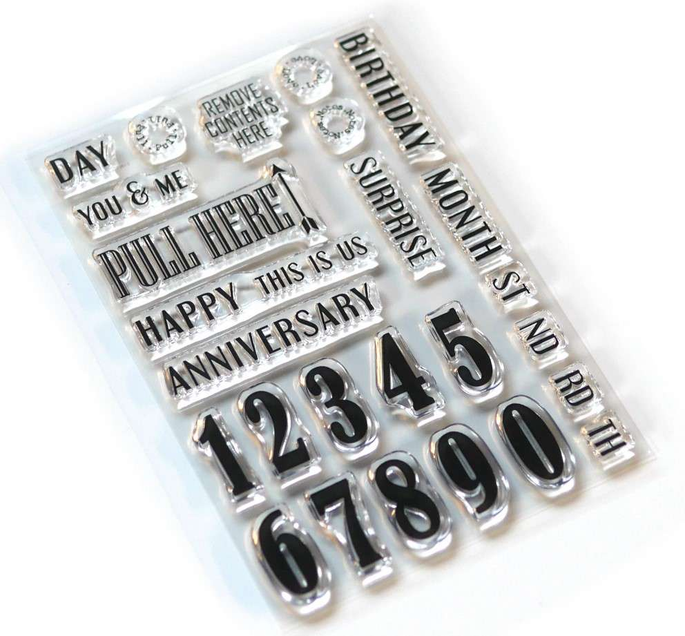 ECD Clear Stamp Pieces of Life 1 Numbers and More