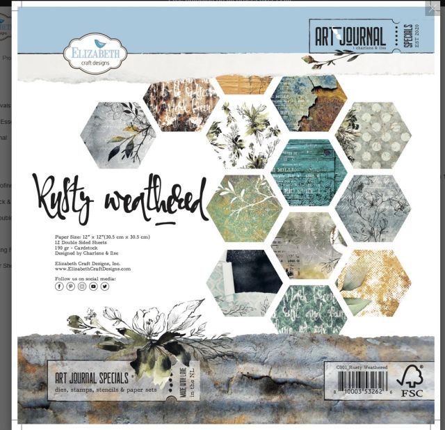 ECD Rusty Weathered paperpad 12 inch