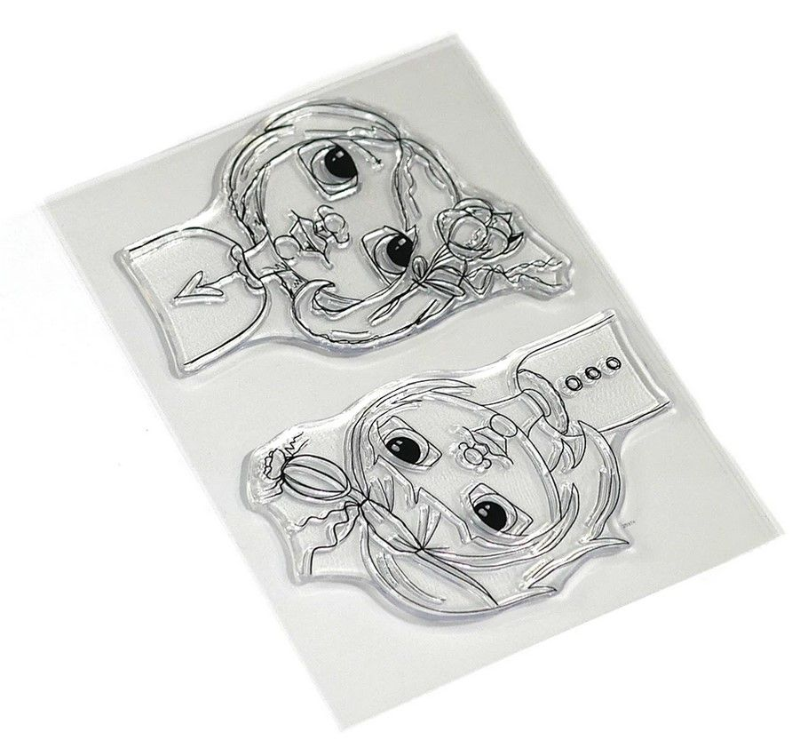 ECD Clear Stamp Floral Girls