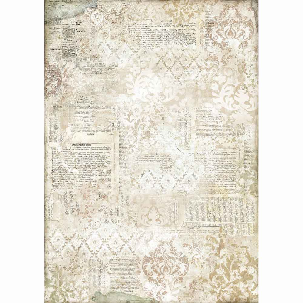Stamperia Rice Paper A3 Dictionary