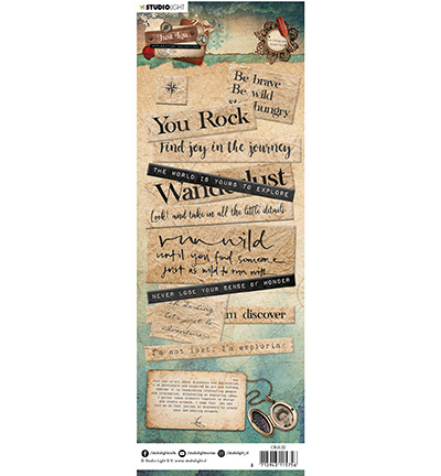 SL Just Lou Exploration Chipboard Elements CBJL02