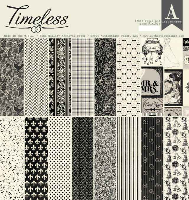 Authentique Timeless Paper Pad 12 inch.