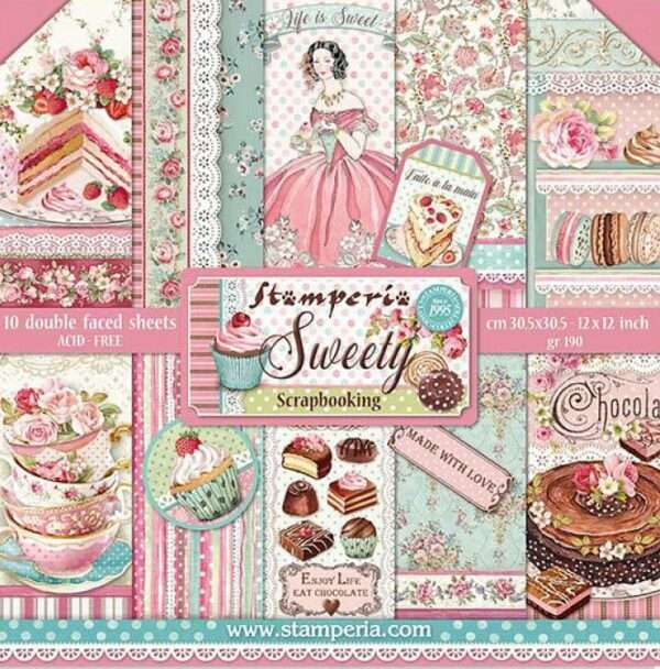 Stamperia Paperpad Sweety 12 inch