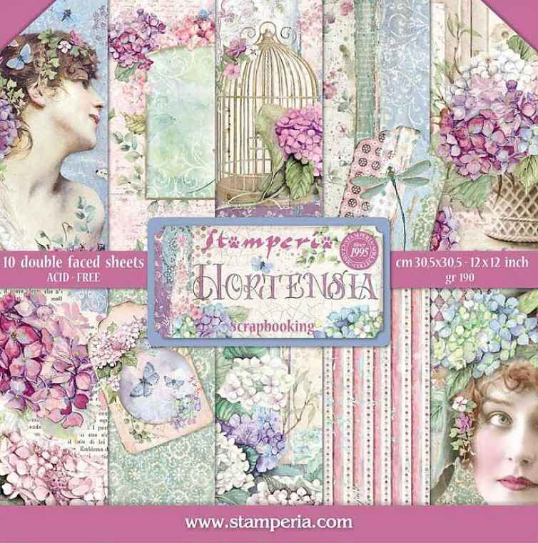 Stamperia Paperpad Hortensia 12 inch