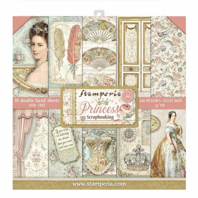 Stamperia Paperpad Princess 12 inch