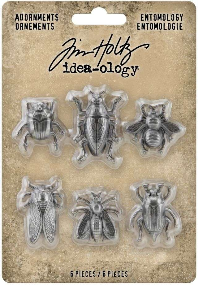Tim Holtz Idea-Ology Metal Adornments Entomology