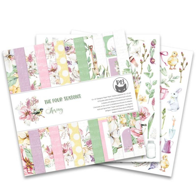 Piatek13 Paperpad The Four Seasons-Spring 12 inch