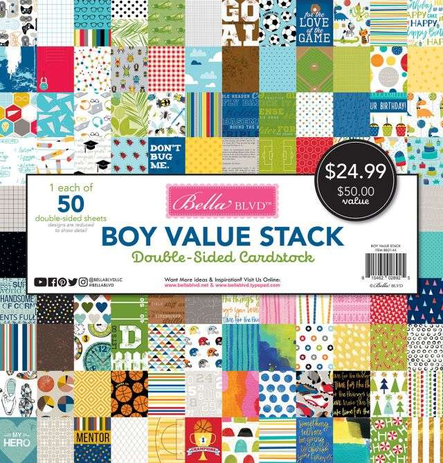 Bella BLVD Boy Value Stack 12 inch