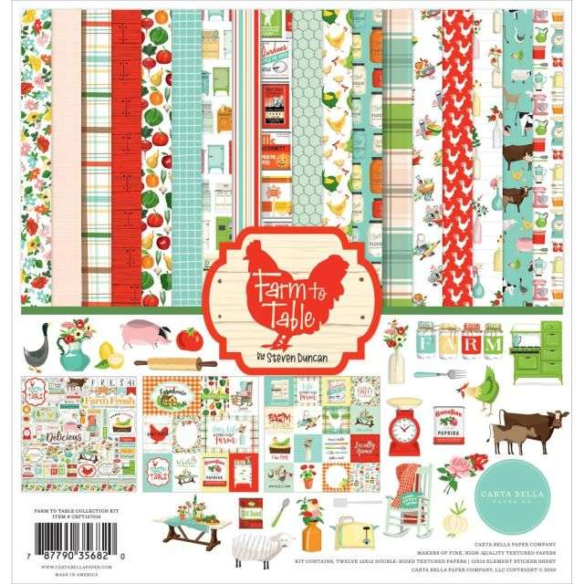 Carta Bella Farm to Table Collection Kit 12 inch