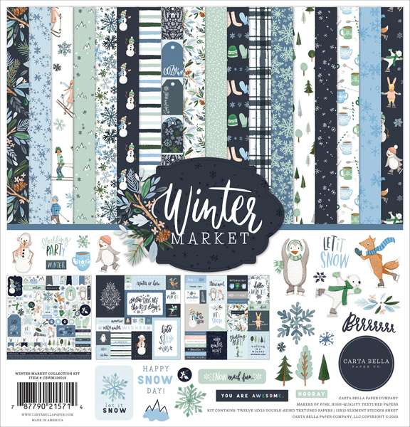 Carta Bella Winter Market Collection Kit 12 inch