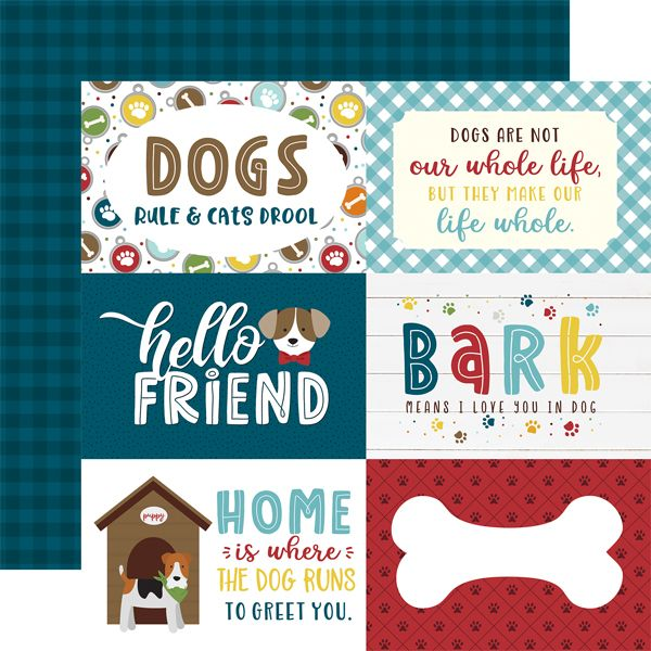 EP My Dog 6x4 Journaling Cards