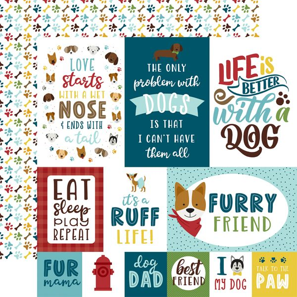 EP My Dog 4x4 journaling Cards