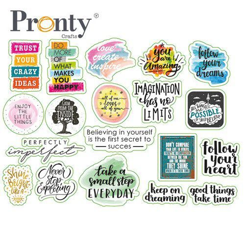 Pronty Quote Print Stickers