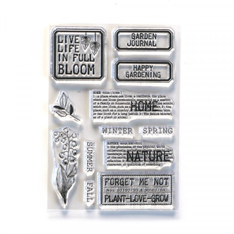 ECD Clear Stamp CS213 Home and Nature