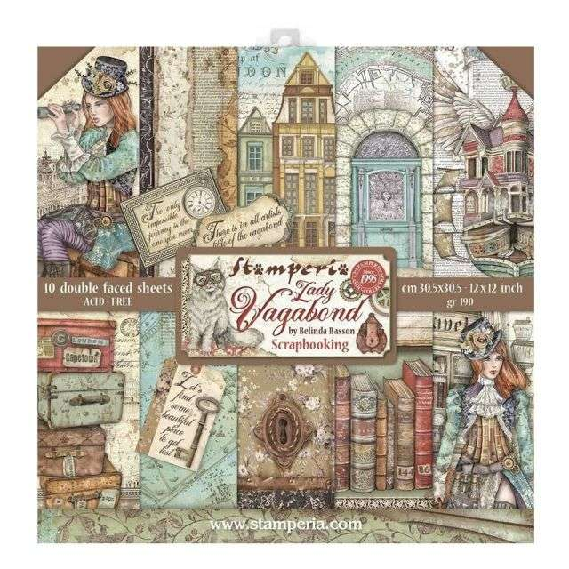 Stamperia Paperpad Lady Vagabond 12 inch