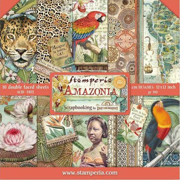 Stamperia Paperpad Amazonia 12 inch