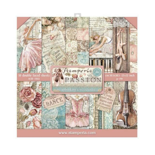 Stamperia Paperpad Passion 12 inch