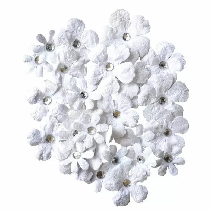 Vaessen Handmade paperflowers white
